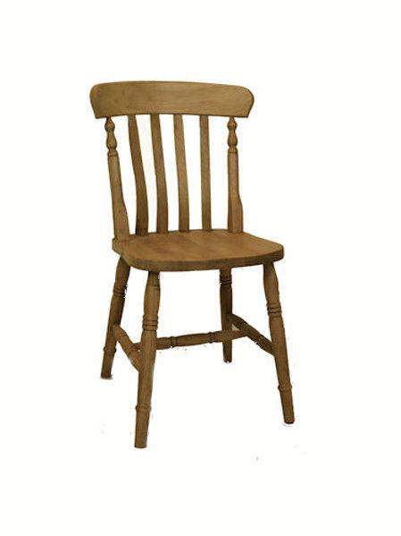 Slatback beech chair