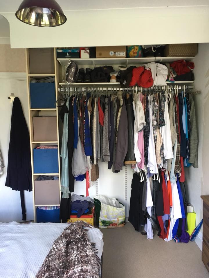 Inside of fitted wardrobe Cornwall