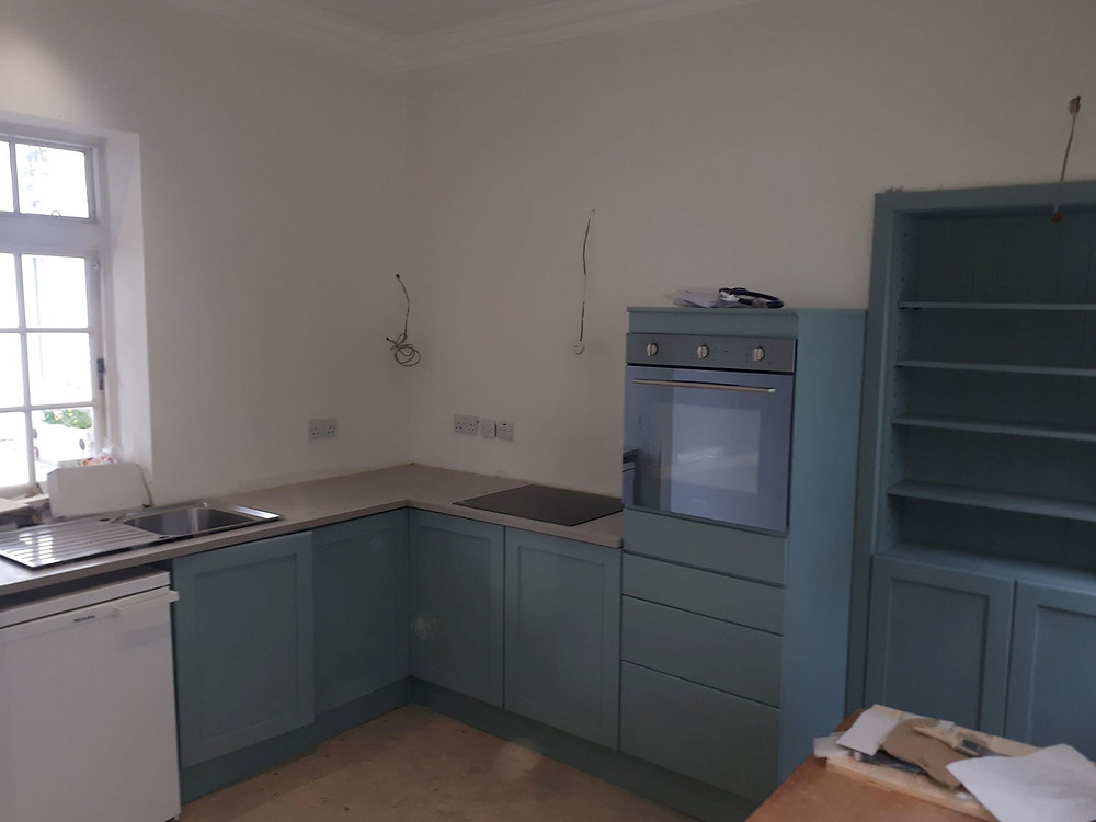 Painted fitted kitchen