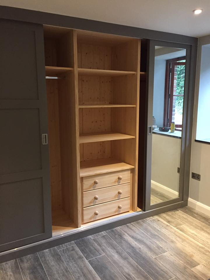 interior of fitted wardrobe