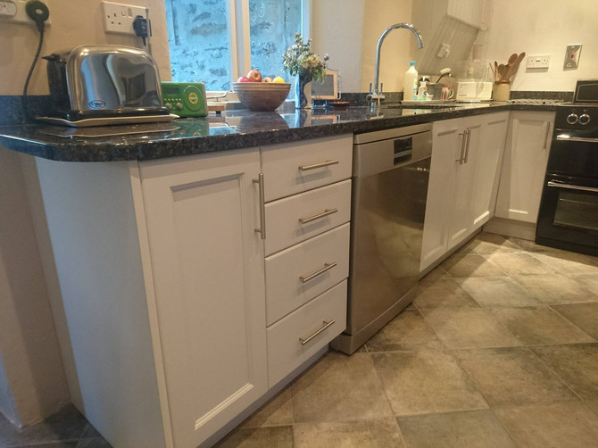 A gorgeous kitchen made and installed in Cornwall