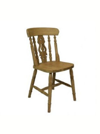 Fiddleback beech chair