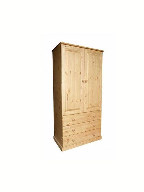3 drawer pine wardrobe