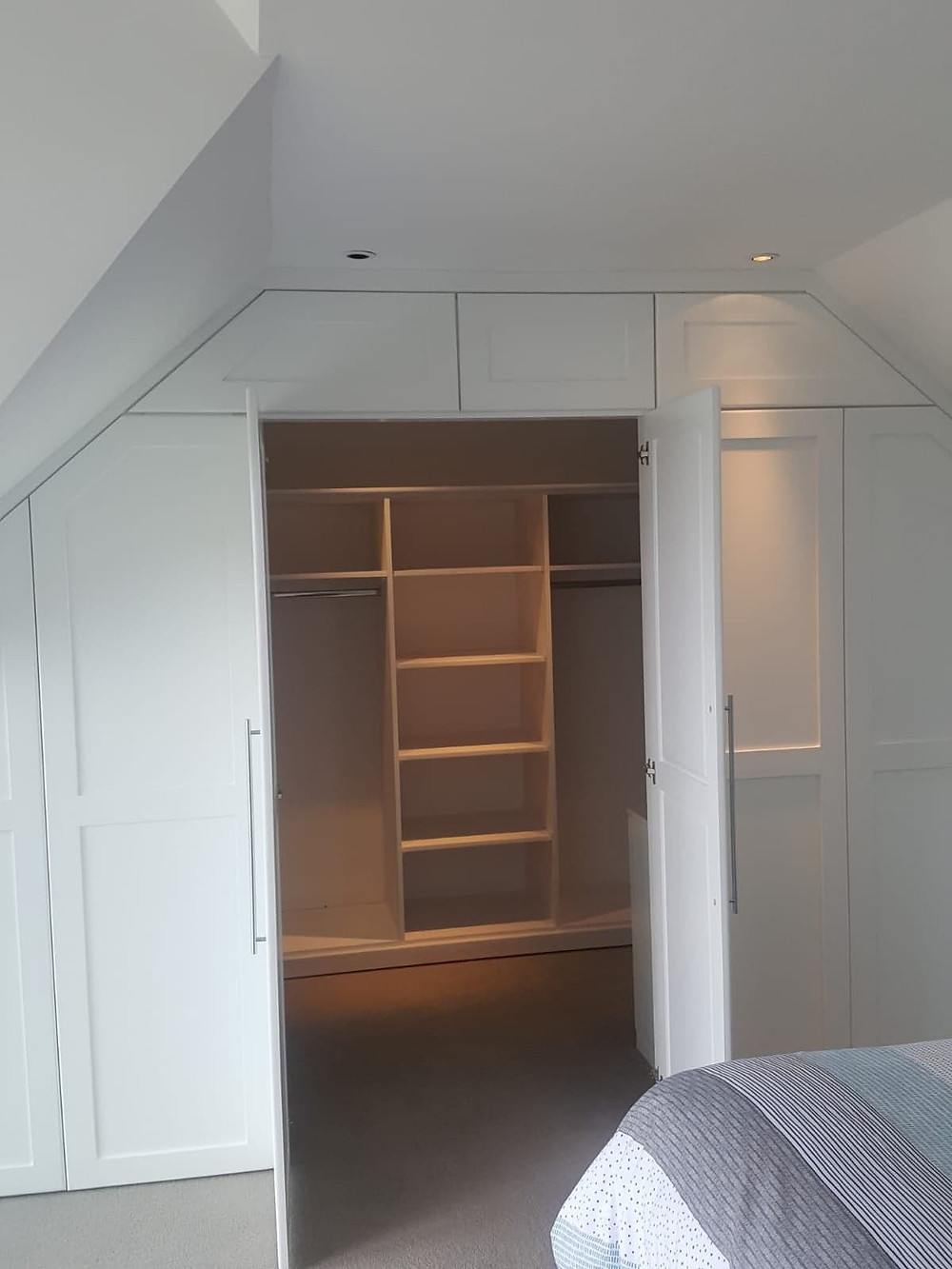 secret room inside a wardrobe
