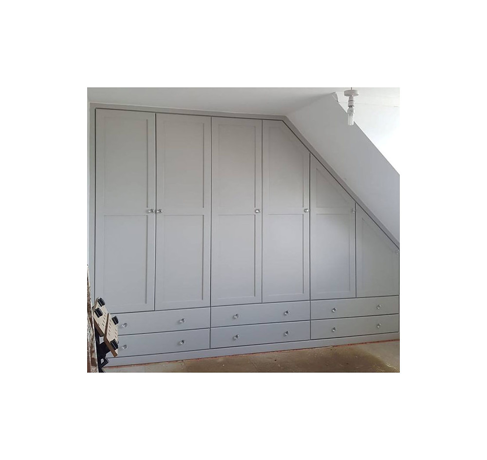 Fitted wardrobes in angled rooms Cornwall