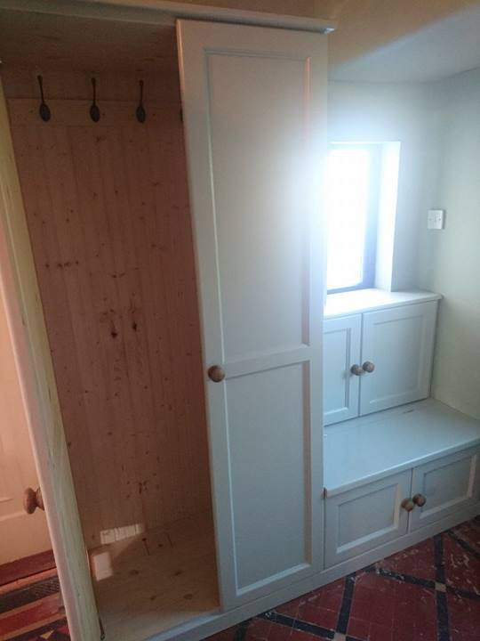 Inside of the fitted wardrobe