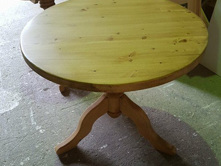 Round tables available from stock.