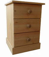 Pine bedside cabinet made in Cornwall.