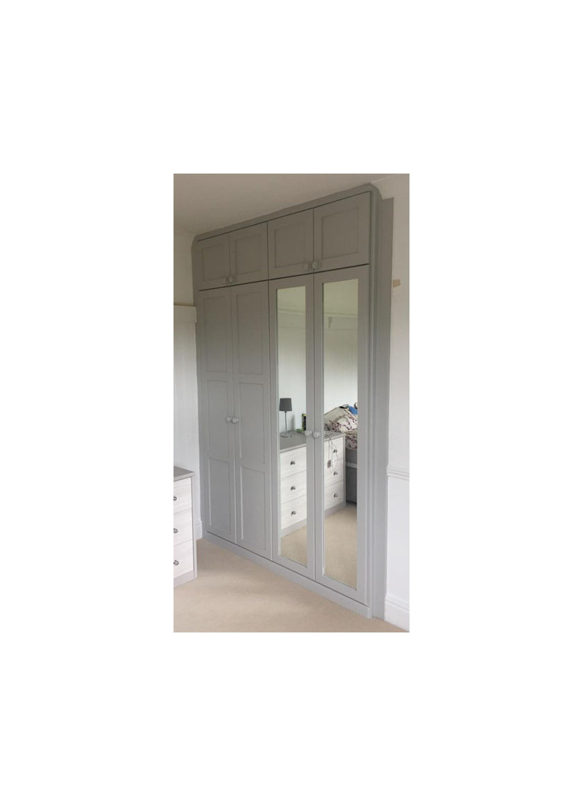 fitted wardrobe with drawer combination