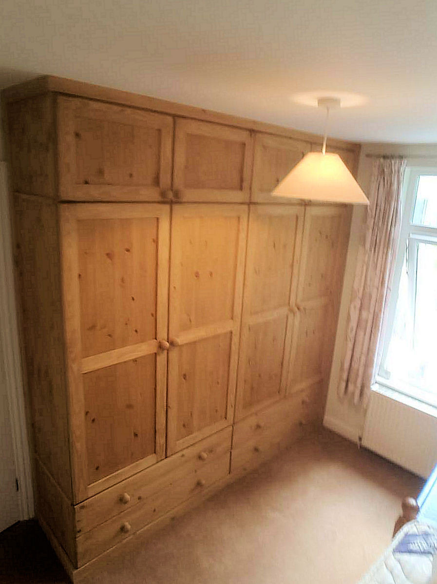 waxed fitted wardrobe cornwall