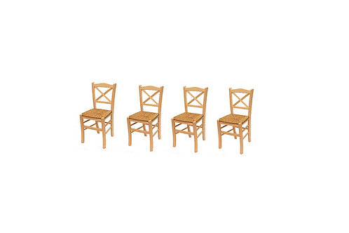 Set of 4 X back chairs