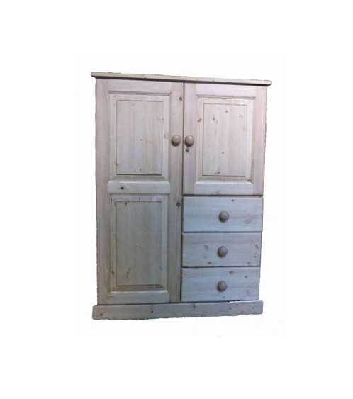 The Padstow Small Pine Combi Wardrobe Is Fantastic For Smaller Rooms As It Has A Mix Of Hanging E And Drawer