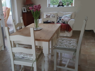 Lovely tables and sturdy chairs