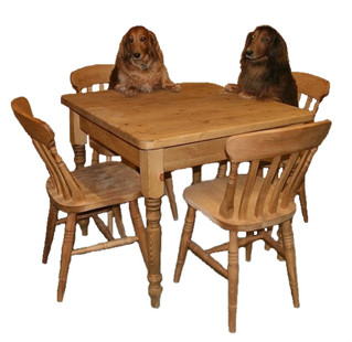 Farmhouse chairs and tables