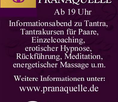 Informationsabend zu Tantra, Tan-Tao, erotischer Hypnose, Rückführung, energetischer Massage  u.m.