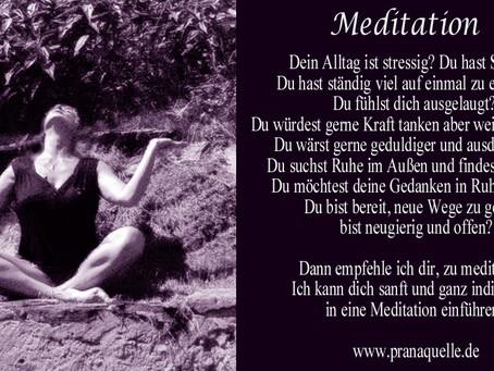 Meditation - Entspannen und Kraft schöpfen