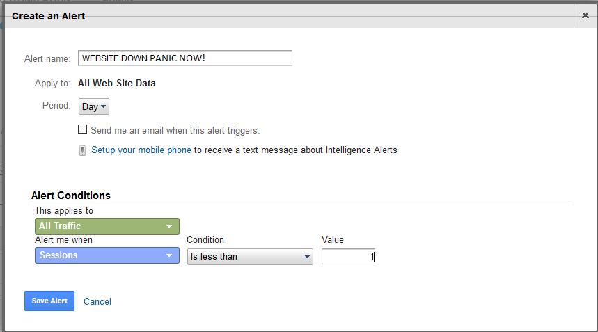 Goolge Analytics Alerts, Reports