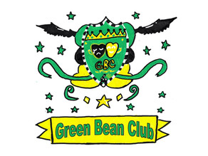 Creating the Green Bean Club emblem: A twin effort!