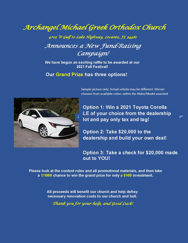 New Site- 2021 Car Raffle Announcement.j