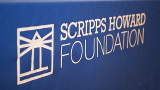 Scripps Howard Foundation and KJRH-TV Present $2500 check