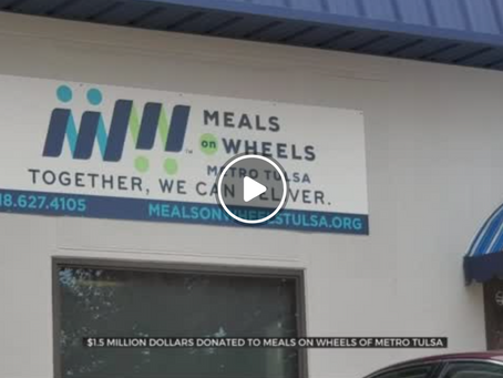 Meals on Wheels among Oklahoma Charities to Receive Major Donation