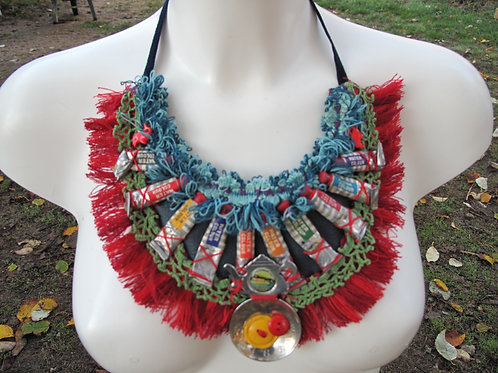 assemblage statement artists necklace