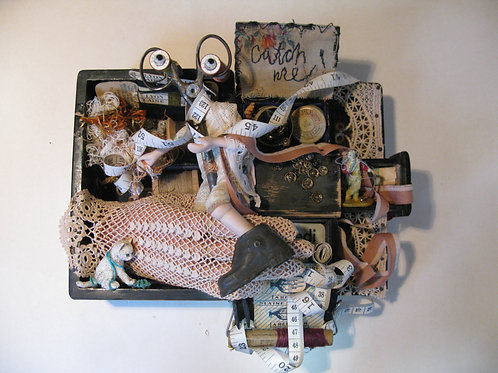 'The Sewing Box Sprite' assemblage art