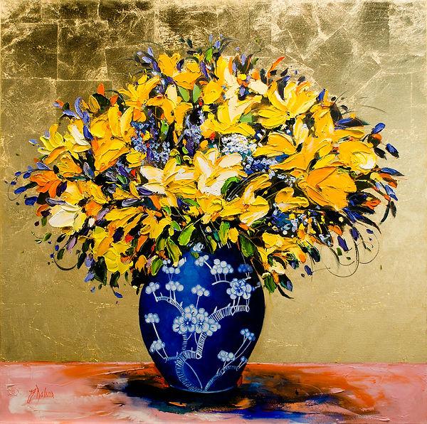 Judith Dalozzo - Lilies in Blue Vase.jpg