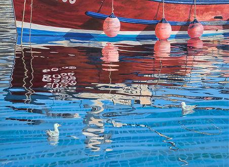Freda Surgenor - Meeting in the harbour.jpg