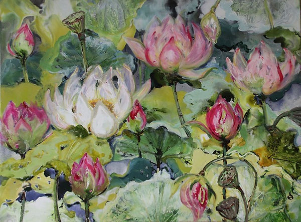 Dianne Ogg - Pink Lotus Pool 1