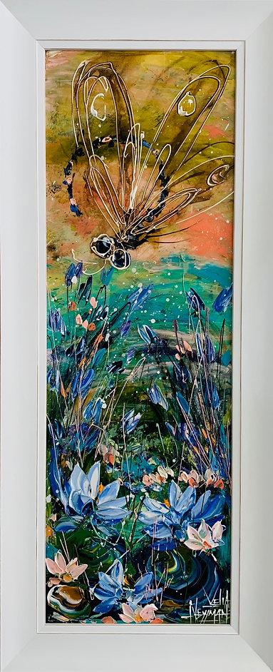 Velia Newman - Lilypond (framed size) 102cmh x 40cmw.jpg