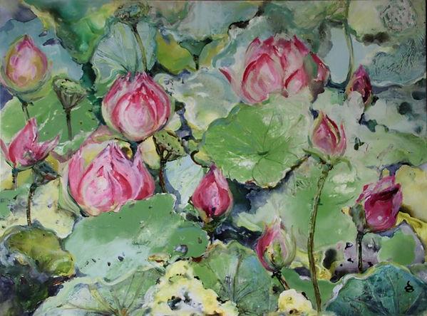 Dianne Ogg - Pink Lotus Pool 2