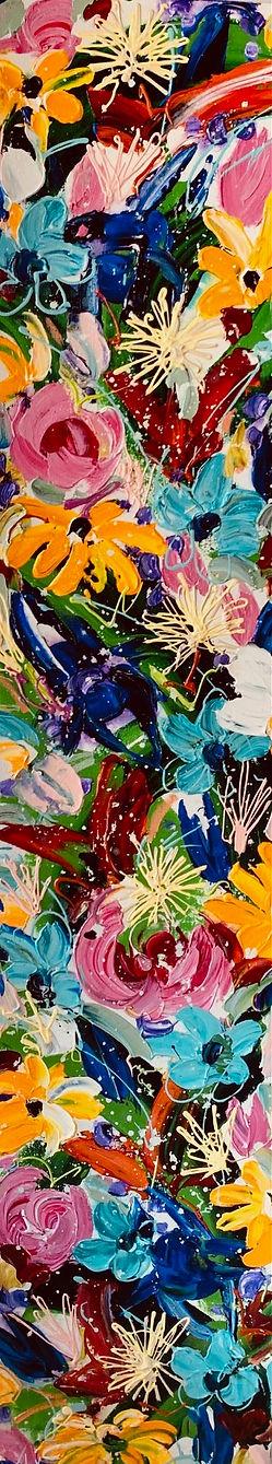 Velia Newman - Floral Panel 152cmh x 30cmw.jpg