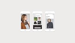 ホームページ制作のイメージ画像。スマートフォンが3つ並んでいて、その画面にはファッショナブルなイメージのモニターが表示されています。ウェブデザインを意識したイメージ画像。