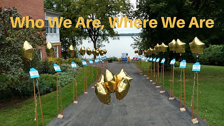 Grand opening balloons Who we are where