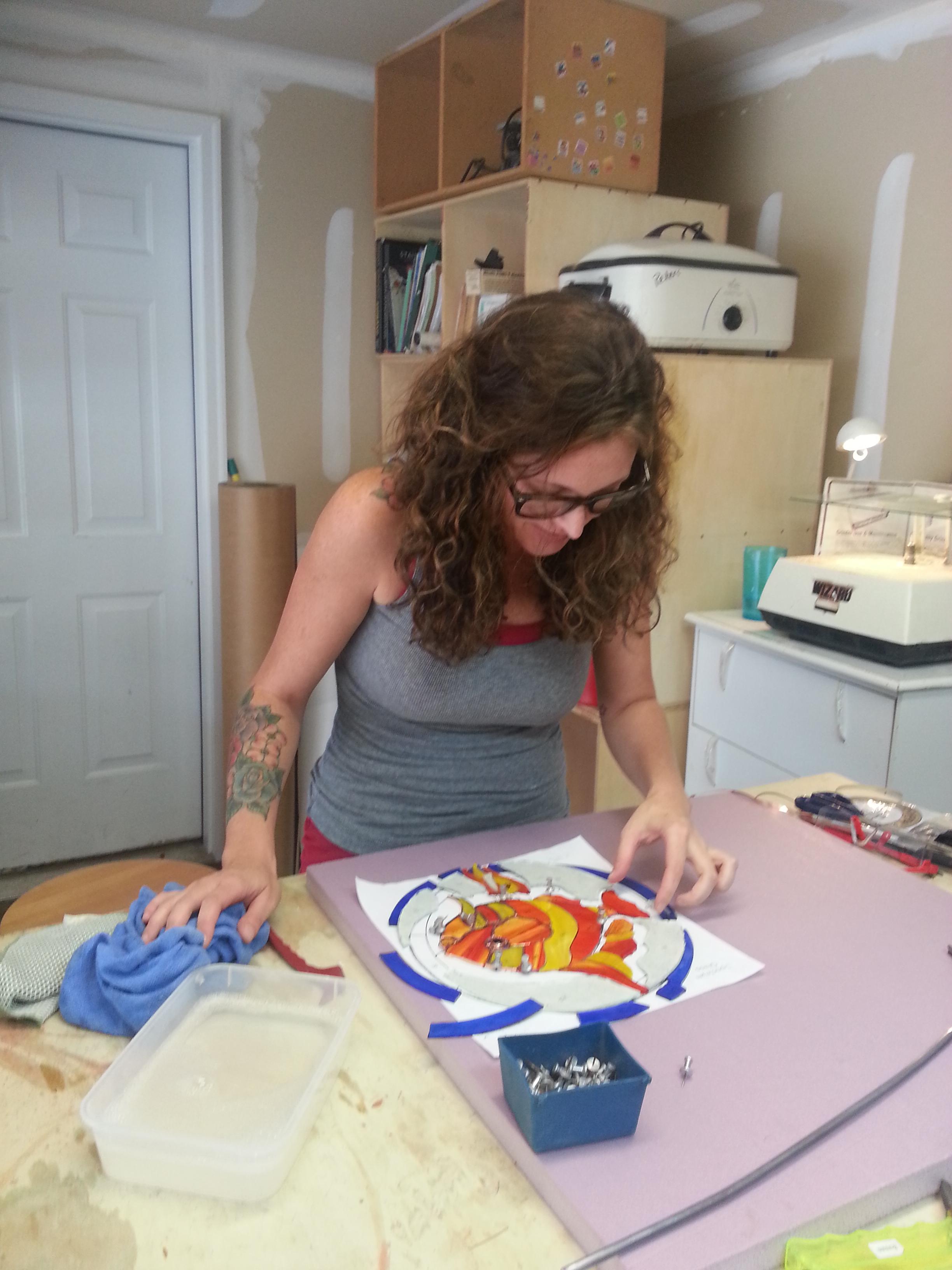 Lauren at work