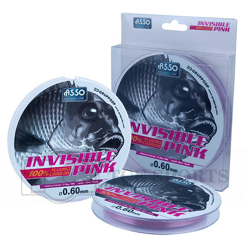 ASSO INVISIBLE PINK FLUOROCARBON 30M