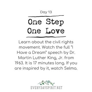 Every Day Spirit One Step One Love Day 13