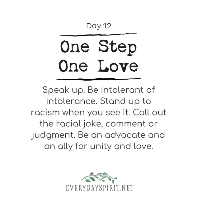 Every Day Spirit One Step One Love Day 12