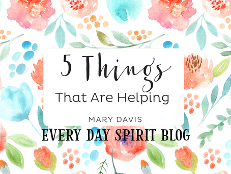 5 Things That Are Helping