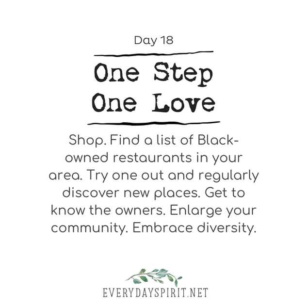Every Day Spirit One Step One Love Day 18