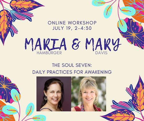 Every Day Spirit Workshop Mary Davis Maria Hamburger