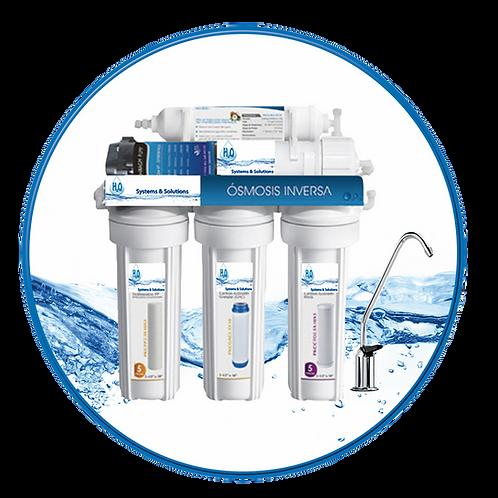 Sistema de Purificación de Agua Alcalina a través de Ósmosis Inversa
