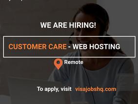 WEB HOSTING CUSTOMER SERVICE | REMOTE