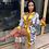 Thumbnail: Sexy $ Print Silk Robe Lounge Wear