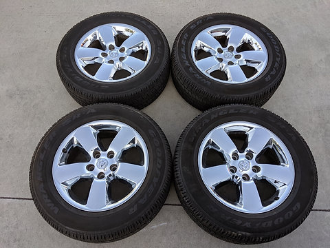 Ram 1500 Lug Pattern >> Set Of Dodge Ram 1500 5x5 5 Lug Pattern Chrome Cover Oem Wheels And Tires
