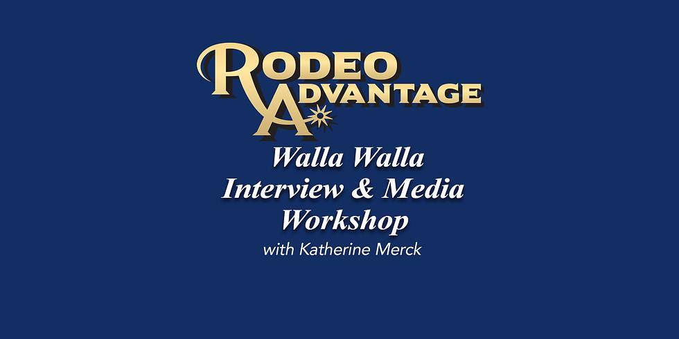 Walla Walla Interview and Media Workshop with Katherine Merck