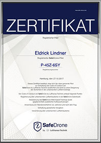 SafeDrone Zertifikat