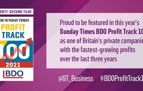 Sabeti Wain Aerospace ranked No.60 in the 22nd Annual Sunday Times BDO Profit Track 100!