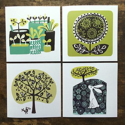 'Spring Green' Greetings Card Bundle